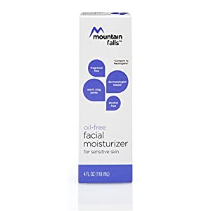Mountain Falls Oil-Free Facial Moisturizer for Sensitive Skin, Sensitive Skin, Hypoallergenic, Compare to Neutrogena, 4 Fluid Ounce