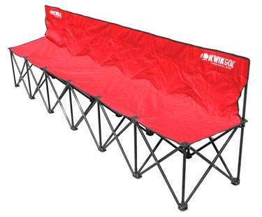 (Kwik Goal 6-Seat Kwik Bench - Red)