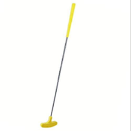 Kofull Junior Mini Golf Putter, 27inch Rubber Double Way Both Right Handed & Left Handed Kids Height 35.43-43.31 inch (Ages 6-8) (Yellow)