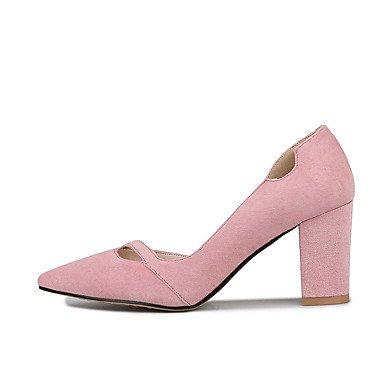 talón Negro Zapatos mujeres de oficina gruesos Gris Pink Club carrera de Rosa de Talones del boda suave Otoño paño y vestido Invierno Verano Primavera grueso y las wxptCtBqg