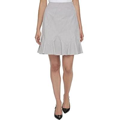 Tommy Hilfiger Womens Pleated Flounce A-Line Skirt