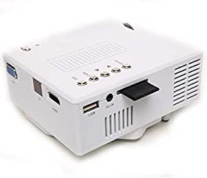 Vga Usb Sd Av Hdmi Mini Portable Hd Led Projector Home Cinema Theater Pc Laptop White