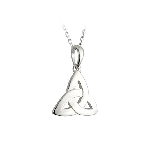 """Trinity Knot Meaning (Trinity Knot Necklace Silver 20"""" Exclusive Chain Irish Made)"""