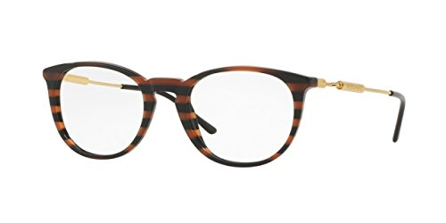Versace VE3227 Eyeglass Frames 5187-51 - 51mm Lens Diameter Brown Rule Black VE3227-5187-51
