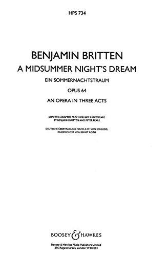 A Midsummer Night's Dream Op. 64 - Study Score - Hardcover