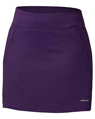 - Cutter & Buck Women's Moisture Wicking Double Knit Stretch Interval Pull on Skort, Black Impulse, XX-Large