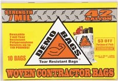Demo Bags DB10-42HP CONTRACTOR TRASH BAG, 42 GALLON, 10 BAGS PER PACK (26 PACKS) by Demo Bags