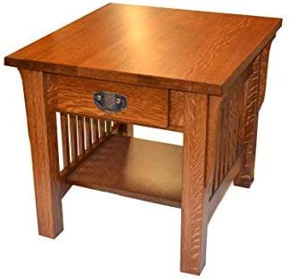 Crafters and Weavers Mission Crofter Quarter Sawn Oak End Tables or Night Stand