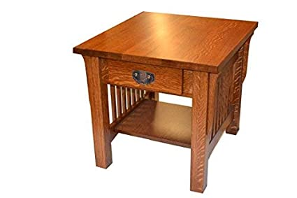 Amazon Com Crafters And Weavers Mission Quarter Sawn Oak End Tables