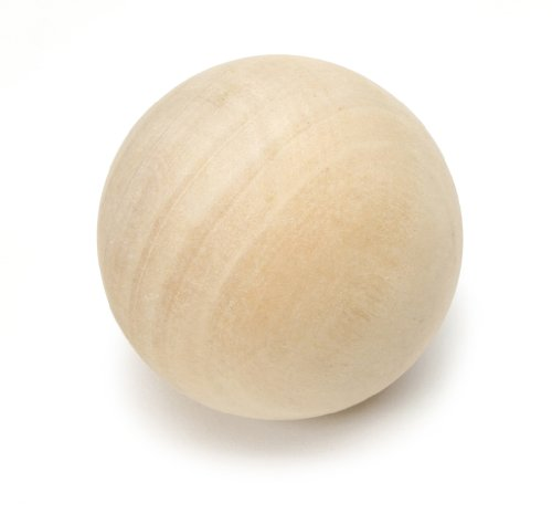 Darice 9112-59 Natural Unfinished Wood Round Ball, 2-1/2-Inch (Wine Decanter Wood Stopper)