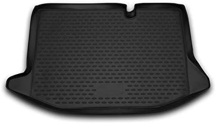 Black Rubber TPE Trunk Cargo Liner Floor Mat Mats VM518 Tray Carpet Mud Guard Cover Protector All Weather Car Accessories Compatible With Ford Fiesta MK7 Facelift 2011 2012 2013 2014 2015