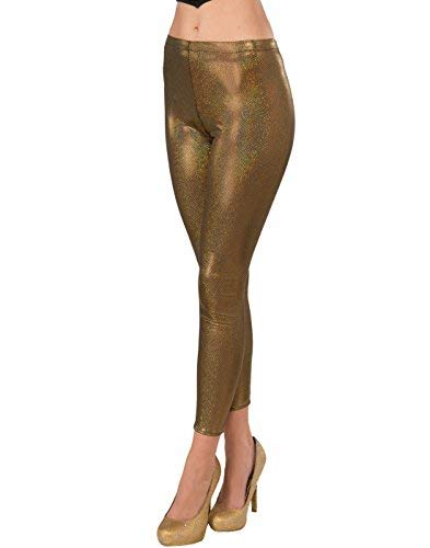 Forum Novelties 75207 Futuristic Leggings, One Size, Gold -