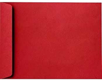 Press /& Seal 50-Pack Red 9x12 Catalog Envelopes