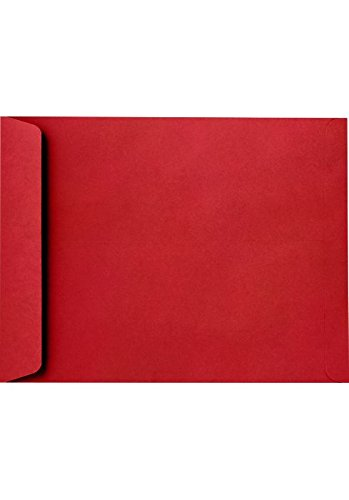 Red Envelope Catalog (9 x 12 Open End Envelopes - 80lb. Ruby Red (50 Qty.)   Perfect for Tax Season, Sending Catalogs, Pamphlets, Brochures and so much More!   80lb Paper  )
