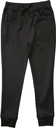 French Toast School Uniform Girls French Terry Jogger Pants, Navy, 4T