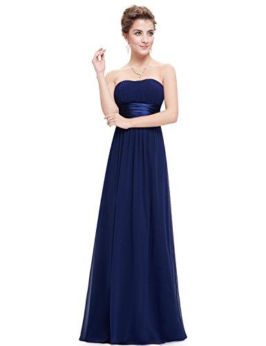 sulle donna spalle vestito sera Pretty lungo da Ever da 09955 Empire Marineblau1 libero wz6xW0fq