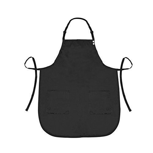 (A Size Above Plus Size Salon Stylist Apron, Black, 2X)
