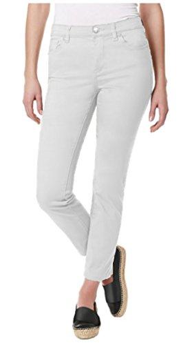 Buffalo David Bitton Womens Daily Mid Rise Skinny Jean, White, - Prime Outlet Buffalo