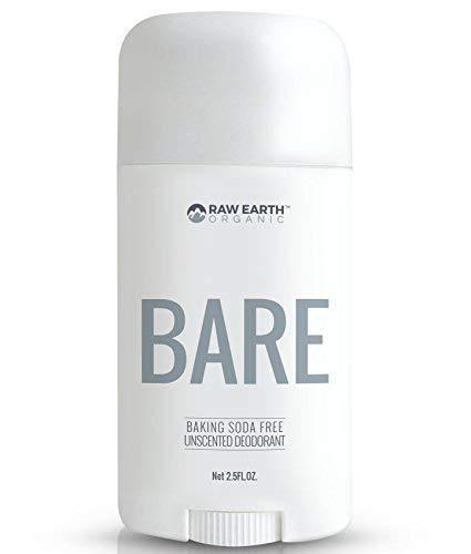 Raw Earth Organic All Natural Vegan Magnesium Deodorant - Baking Soda & Aluminum Free - Unscented (2.5oz)