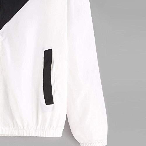 Primaverile Libero Baggy Coat Eleganti Maniche Autunno Tempo Fashion Colori Donna Outwear Sportivo Sportivi Nero Women Leggero Misti Yasminey Lunghe Incappucciato Giacche Outdoor Giovane Giubbino ZxqETqw4S
