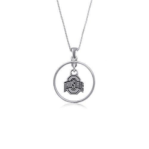 Ohio State University Buckeyes OSU Sterling Silver Jewelry by Dayna Designs (Open Drop ()