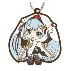 Bandai Gashapon Vocaloid 2018 Hatsune Miku Yuki Snow Assortment Rubber Swing Keychain~#4