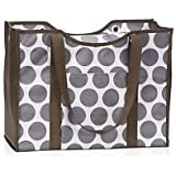 Thirty-One All-Day Organizing Tote in Grey Mod Dot