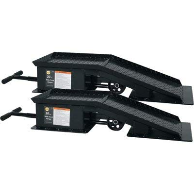 Omega Lift Equipment Truck Ramps - 20-Ton Capacity, For 16in.W Max. Vehicle Tire, Model# 93201 ()