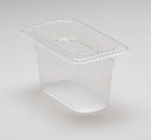 Cambro 94PP190 1/9 Size Polypropylene Food Pans, Translucent (6/Case)
