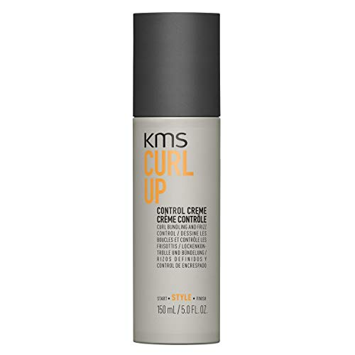 KMS CURLUP Control Crème Curl Bundling & Frizz Control, Glossy, Bouncy, Radiant & Smooth, 5 oz