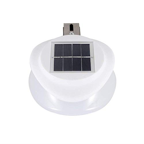 Tinpa 9LED Solar Lights Outdoor UFO Modeling, Solar Security Lighting Waterproof IP55, Warm/White Light for Home Garden Lawn Pool Courtyard Entrance Pathway School Villa ()