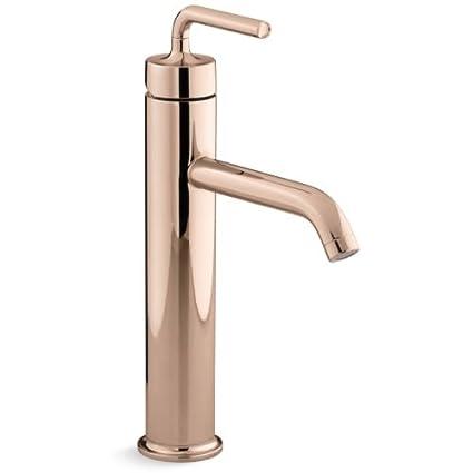 kohler k bl black deck mount faucets faucet bridge dp bathroom purist matte