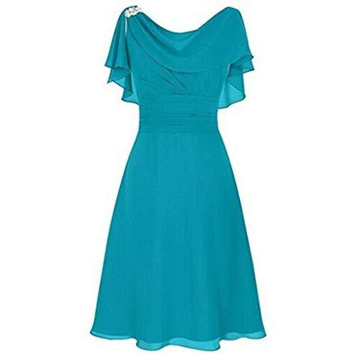 - Aniywn Women Formal Wedding Bridesmaid Dress Plus Size High-Waist Party Ball Prom Gown Cocktail Dress Blue