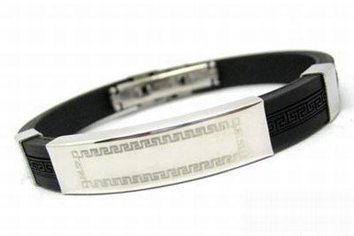 cored Edelstahl Armband Edelstahlarmband Kautschuck c8