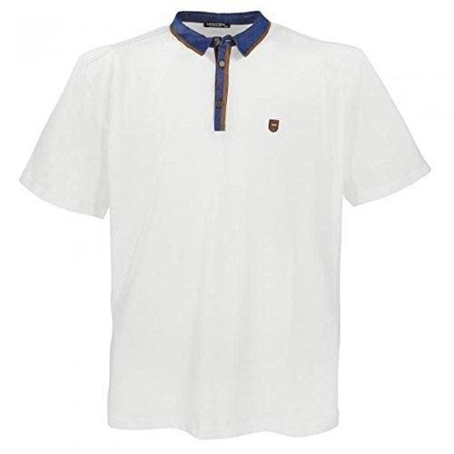 Lavecchia 4692 Übergröße Poloshirt in Creme-Weiß 3-7 XL