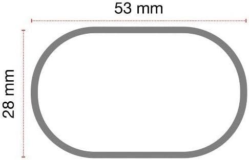 Bars DE Toit pour Voiture Barre DE 130CM pour Voitures avec Fixation DIRECTE AU Toit sans Main Courante Support DE Toit Acier Noir APPROUV/É Compatible avec Land Rover Evoque 5p 2018 68.021