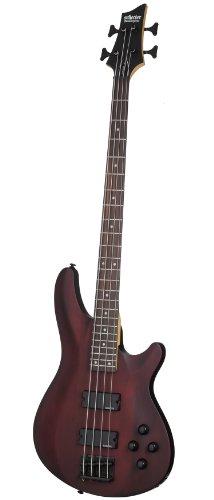 Bass Satin Guitar 4 - Schecter Omen-4 4-String Electric Bass Guitar Walnut Satin