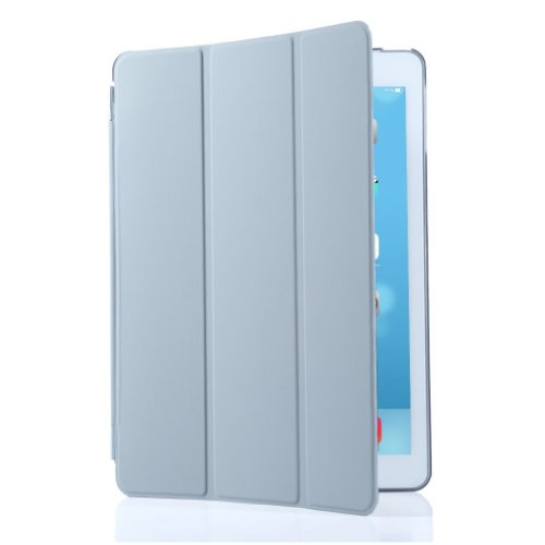 Granvela® Ultra-thin Magnetic Smart Cover & Clear Back Case for Ipad Mini (2nd Generation) + Screen Protector + Stylus + Cleaning Cloth + Dust-proof Plug-- Grey