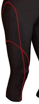 Sportoli Women Active Workout Compression Base Layer Capri Leggings Tights Pants