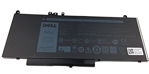 6MT4T Genuine Dell Laptop Battery for Dell Latitude E5470 and E5570 - TYPE 6MT4T 7.6V 62WH