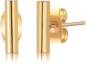 OSIANA Stud Earrings - Womens Titanium Stainless Steel Planted Glod Minimalist Earrings in Gift Box 01-Stud