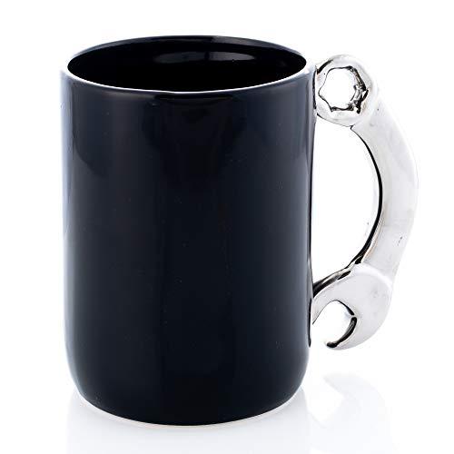 Combination Wrench Tool Design Midnight Black 12 ounce Glossy Ceramic Mug