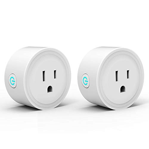 Alexa Smart Plugs, WiFi Outlet Socket 2 Pack, Smart Outlets Remote Control Timer/On/Off Switch, Work with Google Home/IFTTT, Smart Life APP, ETL FCC Listed (Avatar Phone Watch)