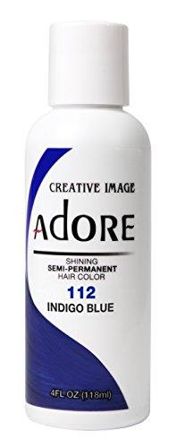 Adore Shining Semi Permanent Hair Colour, 112 Indigo Blue by Adore