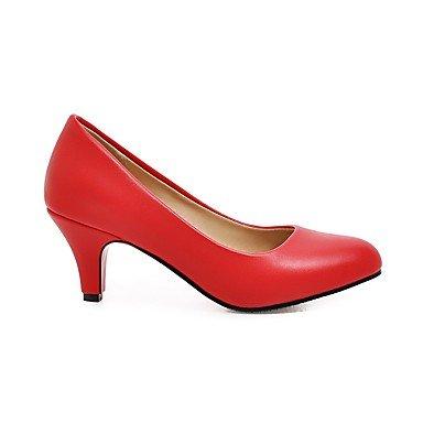LvYuan-ggx Femme Chaussures à Talons Escarpin Basique Similicuir Automne Décontracté Habillé Escarpin Basique Talon Aiguille Blanc Noir Rouge5 à 7 white fV0KtzveB