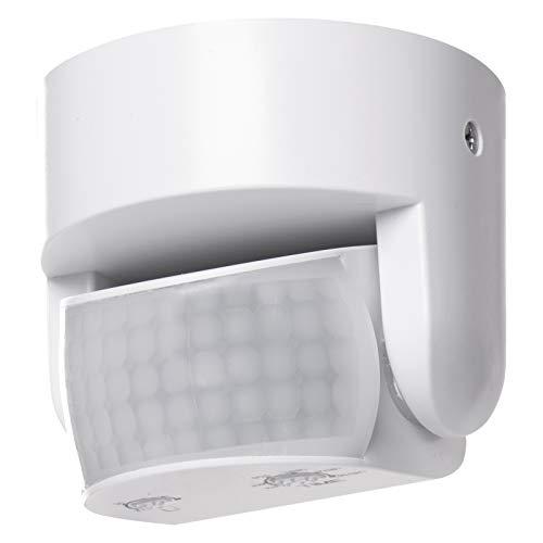 EMOS G1240 Infrarot-Bewegungsmelder IP65 für Innen und Außen, Arbeitsfeld 180°, 12m Reichweite, Empfindlichkeit 3-2000…
