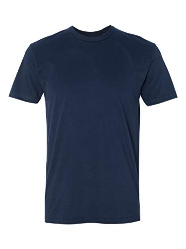 Crew Mens Clothing - Next Level Men's Premium Fitted Sueded Crew, Midnight Nvy, Large