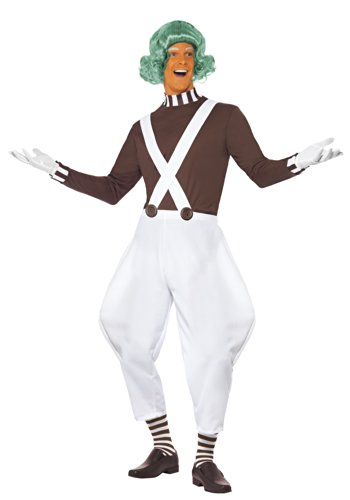 Smiffy's Men's Candy Creator Costume, Brown/White, Medium (Oompa Loompa Pants)