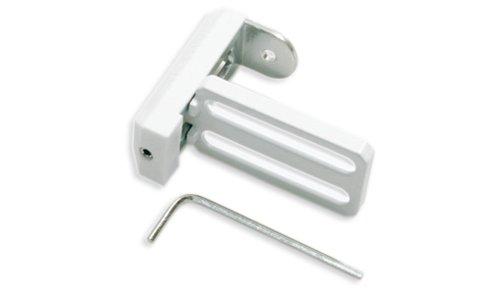 Gardinia 10004205 Hochwertiger Universal Klemmträger aus Metall, verwendbar für Rollos, Jalousien und Plissee, 2 Stück, weiß