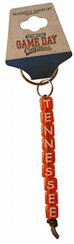 Tennessee Volunteers Ncaa Key Ring - Game Day Outfitters NCAA Tennessee Volunteers Beaded Keychain Tennessee (Small)